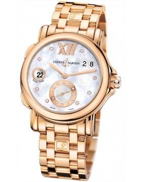 Fake Ulysse Nardin GMT Dual Time Automatic Ladies Watch 246-22-8-391